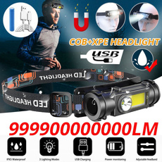 Flashlight, LED Headlights, Outdoor, usb