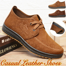 Outdoor, flatcasualleathershoe, casual leather shoes, leather