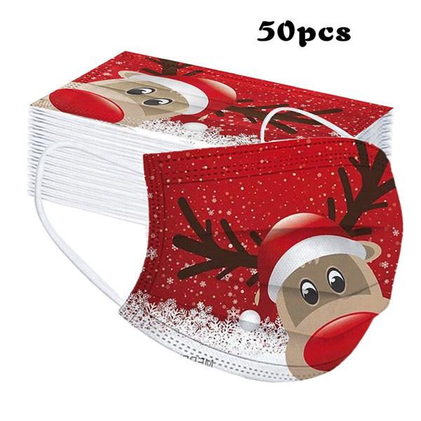cartoonmask, Santa Claus, mouthmask, Christmas