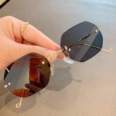 Fashion Sunglasses, UV Protection Sunglasses, rimlesssunglasse, allmatchsunglasse