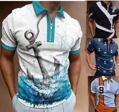 lapel, polo men, Polo Shirts, Summer