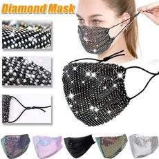 DIAMOND, sequinmask, mouthmasksforwomen, Fashion Accessories