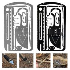 survivalcard, Steel, camping, Hiking