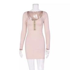 Mini, Long Sleeve, Dress, slim