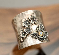 butterfly, Sterling, Fashion Accessory, Flowers