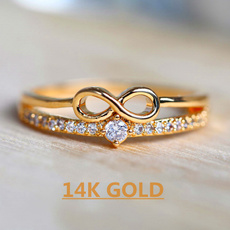 crystal ring, Love, zirconring, gold