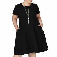 Summer, Polyester, Plus Size, Clothing