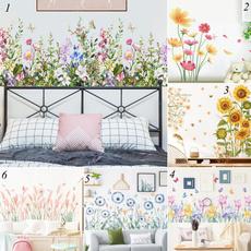 PVC wall stickers, butterfly, Decor, Flowers