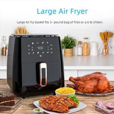 Touch Screen, airfryer, airfryerbestseller, Cooking