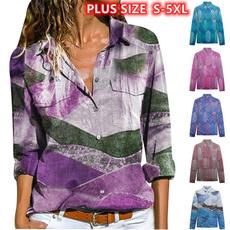 Plus Size, vnecktop, print shirt, V-neck