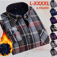 plaid shirt, fleecelined, Fleece, checkered