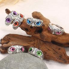 cute, wedding ring, Owl, ringsforcouple