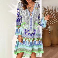 Mini, Plus Size, Long Sleeve, Tunic dress