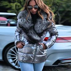 casual coat, Down Jacket, Plus Size, fur