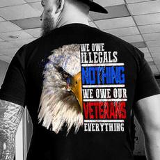 veterantshirt, eagletshirt, Cotton Shirt, Shirt
