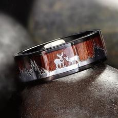 Couple Rings, Steel, silhouette, Jewelry