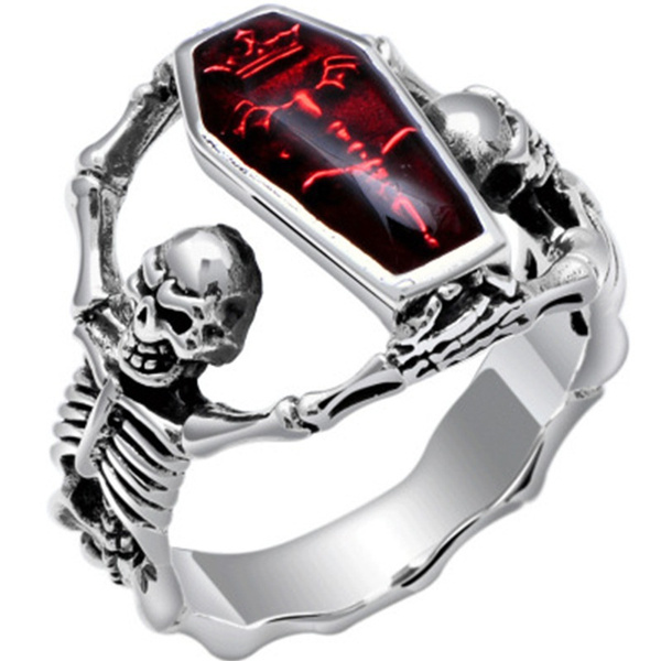 Bat, Jewelry, skull13ring, retro ring