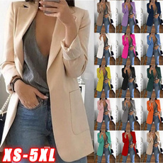 Plus Size, Blazer, Ladies Fashion, Long Sleeve