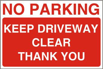 Aluminum, Clear, parking, sign