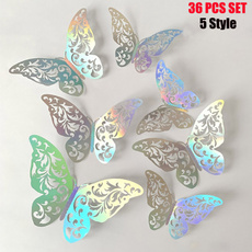 butterfly, decoration, Christmas, 3dbutterfly