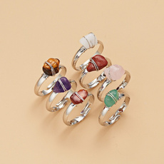 Sterling, crystal ring, 925 sterling silver, Colorful