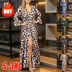 long skirt, Fashion, print dress, Sleeve