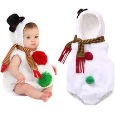 snowman, Fleece, infantromper, babyromper