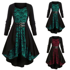 Plus Size, Lace, Long Sleeve, Halloween Costume