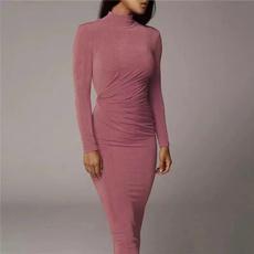 Fashion, Sleeve, Office, long dress