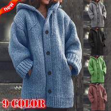 Plus Size, Fashion, hooded, Winter