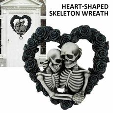 Decor, Fashion, Skeleton, gothicskullcoupledecor