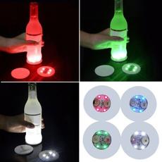 Bottle, Coasters, luminouscoaster, luminoustape