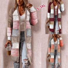 knitted, hooded, Winter, cardigan