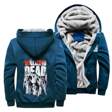 thewalkingdeadfleecejacket, thewalkingdeadhoodedjacket, men coat, hooded