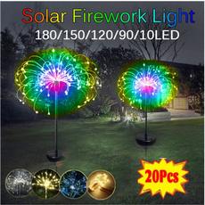 solarpoweredgadget, fireworklight, Garden, Waterproof