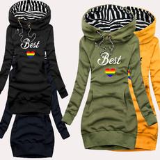 Fashion, hoodiesdresse, Winter, Sleeve