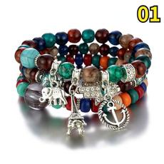 Turquoise, Fashion, colorbeadedbracelet, bodhibeadbracelet