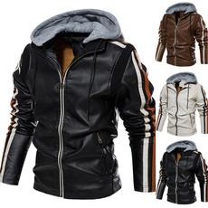 motorcyclecoat, leatherjacketformen, collar slim, Fashion