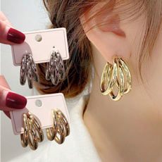 goldplated, Fashion Accessory, Hoop Earring, Jewelry