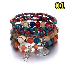 Crystal Bracelet, Turquoise, bodhibracelet, colorbeadedbracelet