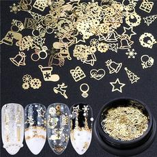 nail decoration, Box, Jewelry, gold