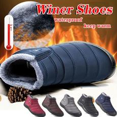 ankle boots, cottonshoe, Plus Size, velvet