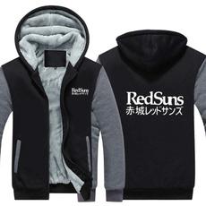 Thicken, redsun, Coats & Outerwear, Fleece Hoodie