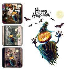 halloween3dwindowcling, Waterproof, Home & Living, pumpkinscarecrowpvcsticker