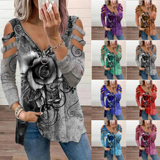 Plus Size, Graphic T-Shirt, tunic top, Long Sleeve