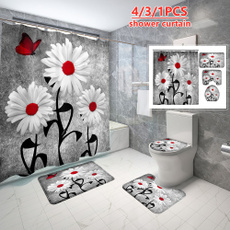 Bath, Bathroom, sunflowershowercurtain, 3dshowercurtain