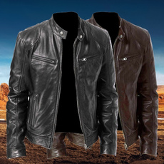 brown, bikerjacket, Fashion, Coat