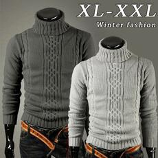 Fashion, Winter, solidcolorsweater, Simple