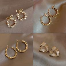 18k gold, Jewelry, gold, Earring