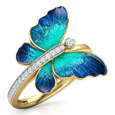 butterfly, 18k gold, Jewelry, gold